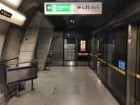 Southwark Underground Station - Alighting from the Jubilee Line