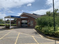 Route from Danesbury Neurological Centre Car Park Blue Badge Bays to the Main Entrance