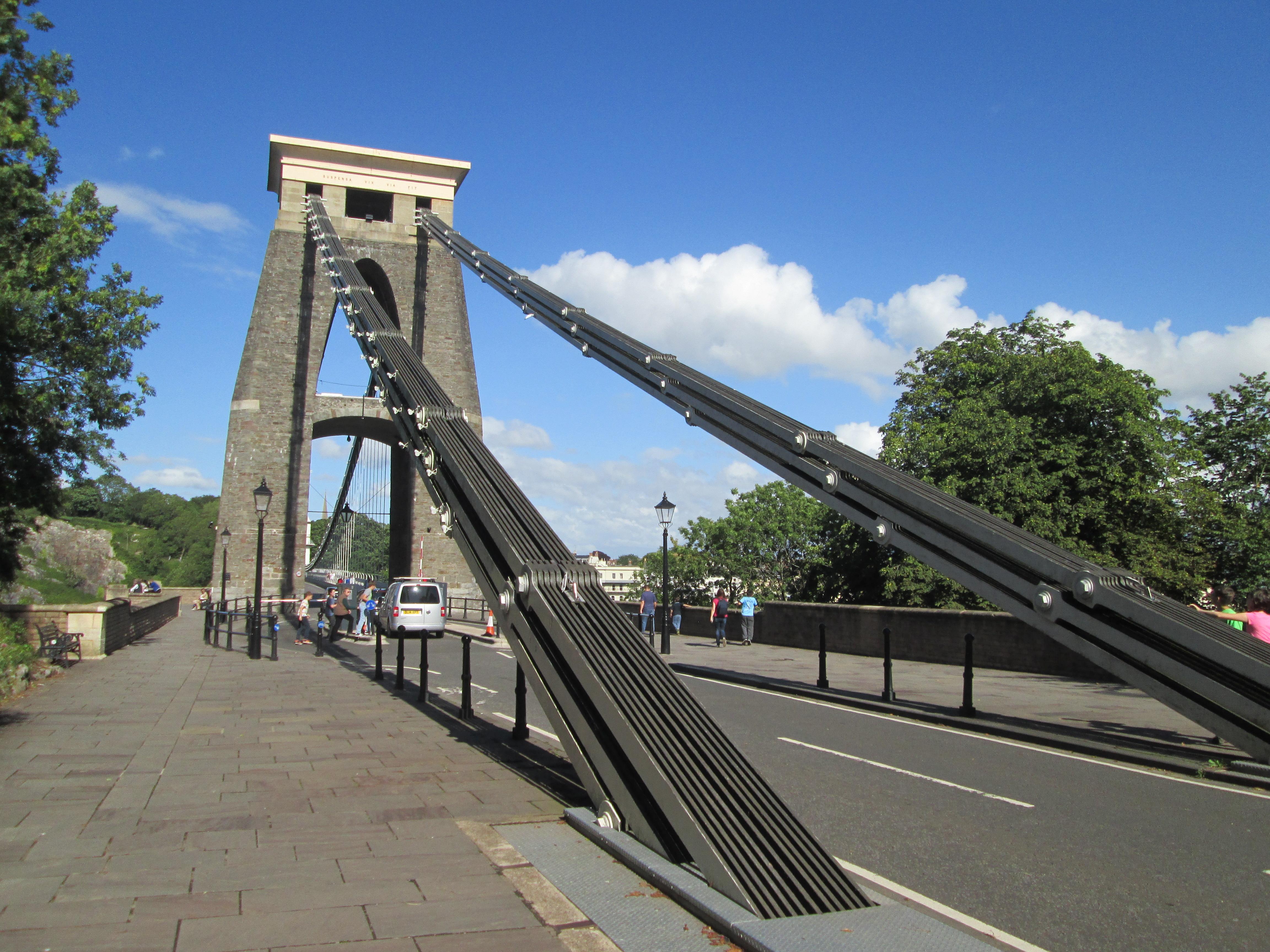 parts of a suspension bridge