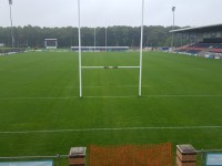 Castle Park Rugby Stadium - North, East Terraces and South Stand